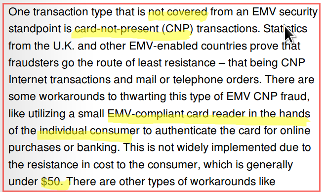 EMV vs internet fail