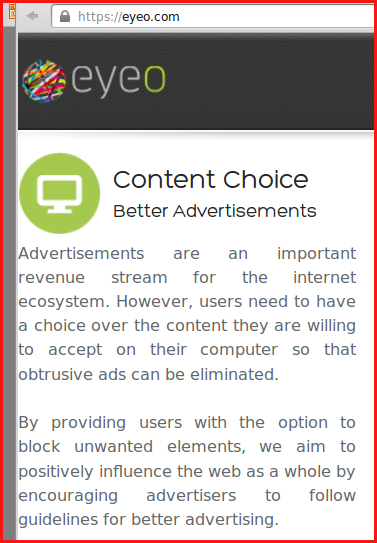 eyeo.com SHOWS ads so surfers THROUGH adblockplus
