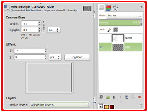 gimp advanced stroking canvas size layer boundary shell gaming 1