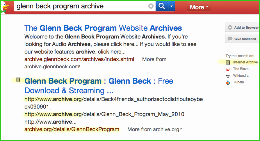 glenn beck program archive duckduckgo results