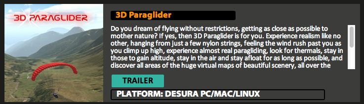 3d boredom in a paraglider