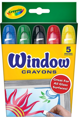 crayola window crayons for glass not textured not etched