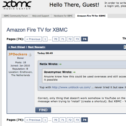 xbmc forum on fire with amazon tv device prone to overheating