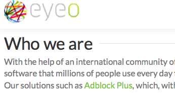 eyeo controls adblock plus ads selling out user trust for profiteering through privacy raping children and adults repeatedly unpunished