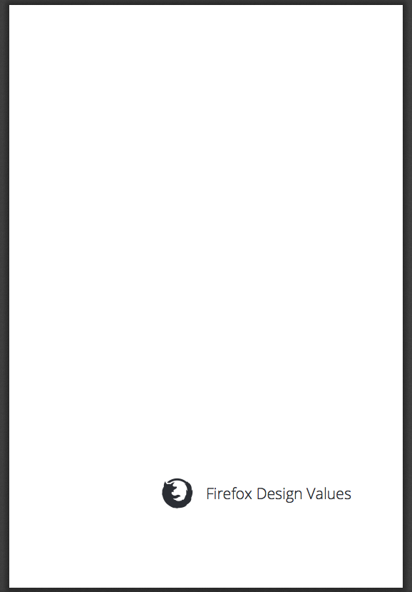 firefox design values mostly whitespace less to dsitract for more contemplation of obedience to mozilla