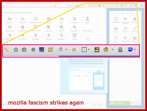 mozilla fascism lets you choose to comply or comply the freedom to submit sellout become mozillas bitch