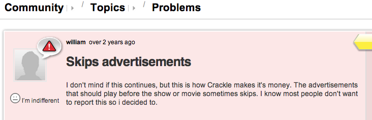 crackle fecklessness privacy rape for profit