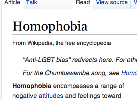 wikipedia homophobia entry defended by moralphobes