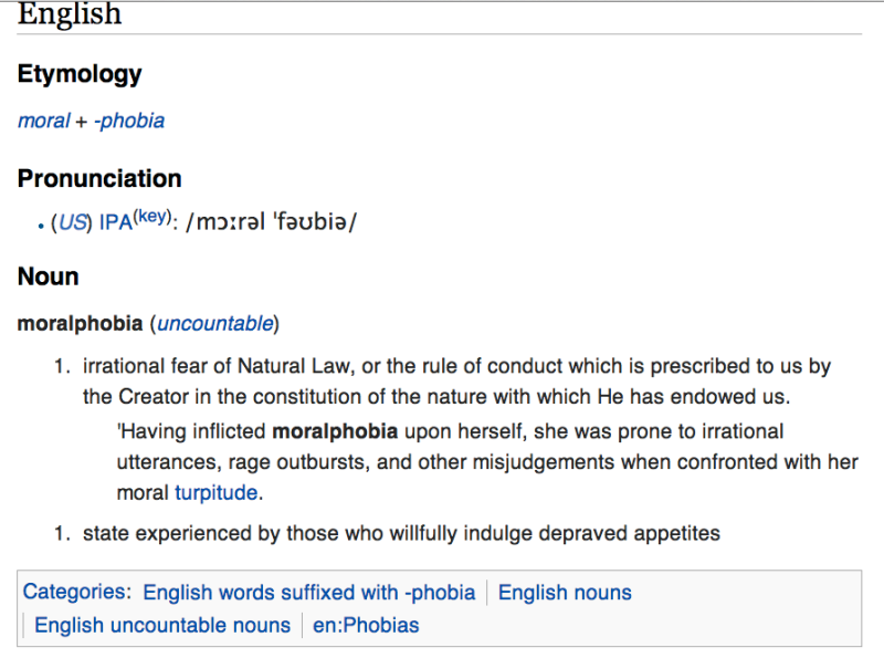 wiktionary moralphobia