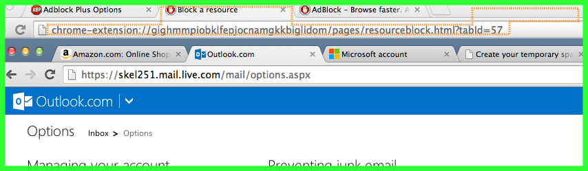 problem with adblock in chrome incognito oh too bad now fight with another window of tabs