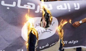 isil flag best when alight in flames like those tempted to damnation following demonically inspired islam